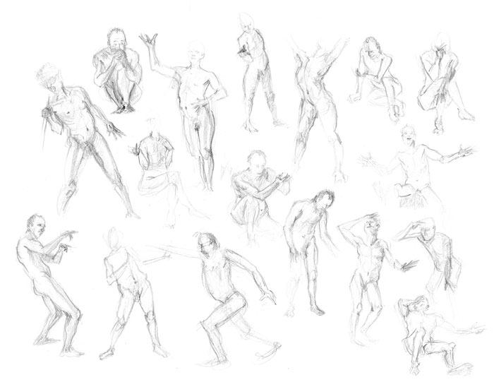 Figure Drawing Poses Photo Photos | Male Models Picture